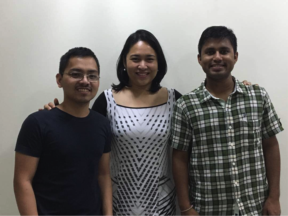 Team Cultivate (from left): MIB Team Leader Leonard Cruz, with members Crystal Anievas (MDM 2017) and Prashant Verma (MBA 2017).