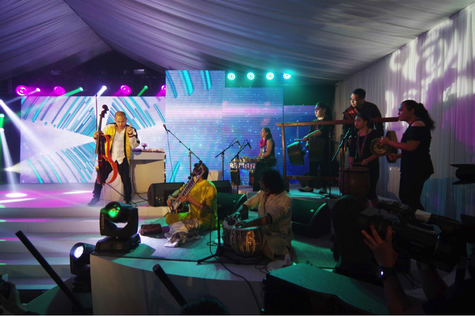 The logo launch featured a performance from two-time Grammy winner Dana Leong and TEKTONIK.