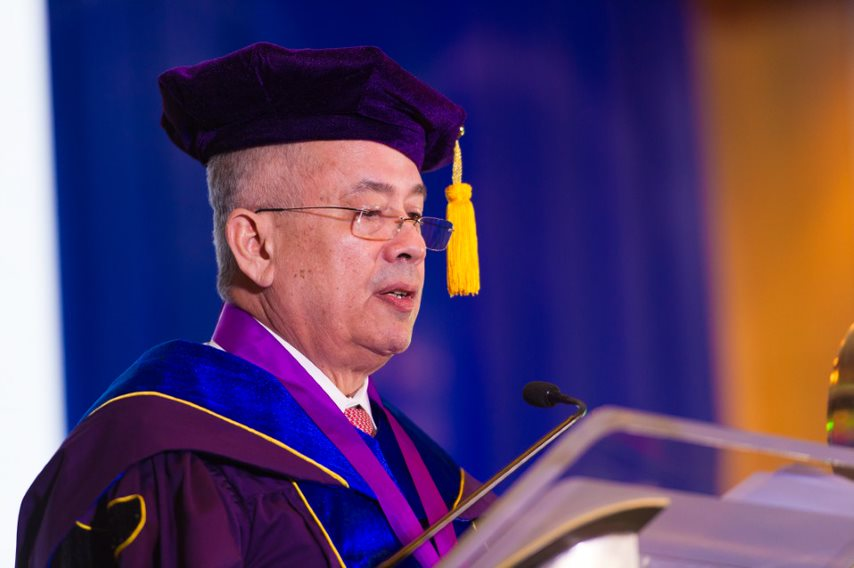 President and CEO of Aboitiz Equity Ventures, Inc., Mr. Erramon Isidro Aboitiz during his Commencement Address