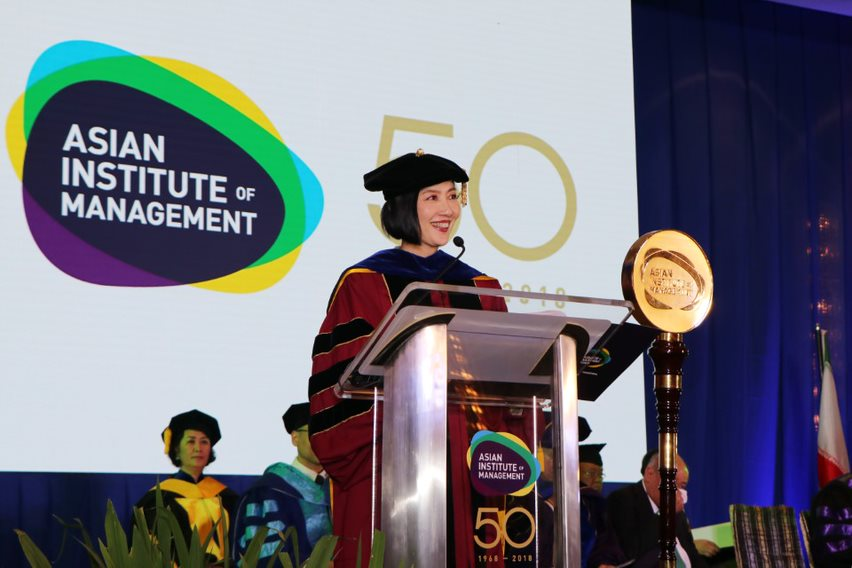 Conferring of awards by Jikyeong Kang, PhD, President and Dean of AIM