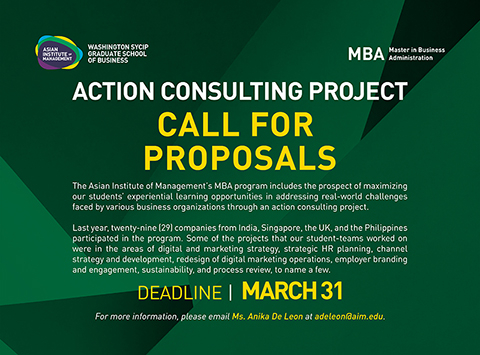 MBA 2021 Call for Action Consulting Project Proposals